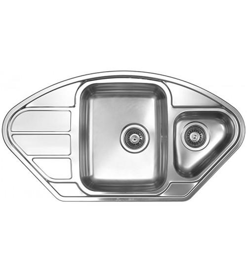 Кухонная мойка Florentina Профи 945.510.1К Нержавеющая сталь декор