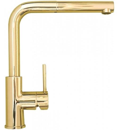 Кухонный смеситель Alveus Zeos-P Monarch Gold (выдвижной шланг) 1136501