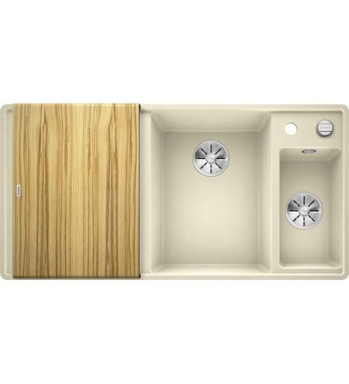 Кухонная мойка Blanco Axia III 6 S-F Жасмин, столик из ясеня (чаша справа)