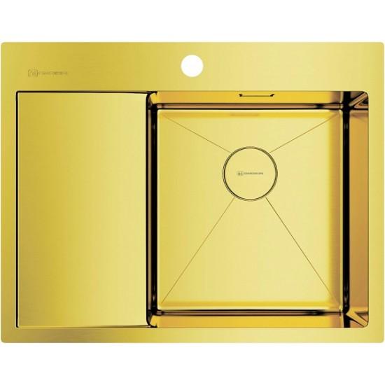 Мойка Omoikiri Akisame 65-LG-R Светлое золото