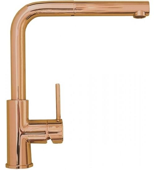 Кухонный смеситель Alveus Zeos-P Monarch Copper (выдвижной шланг) 1136502