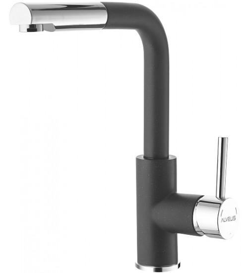 Кухонный смеситель Alveus Siros-P G91 Carbon (выдвижной шланг) 1129048