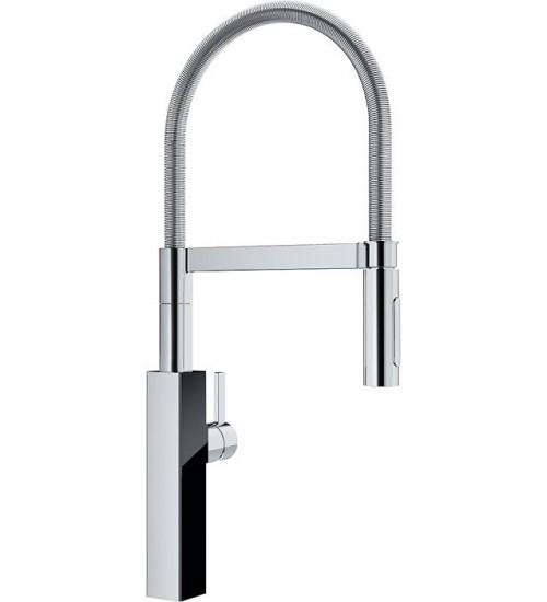 Кухонный смеситель Franke Crystal Хром/Черный (Выдвижной душ)