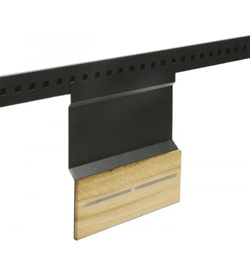 Держатель для ножей с двумя магнитами Поконар 280х30х320 мм, отделка черный бархат (матовый) 1A.3015-2.9005