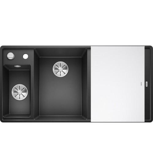 Кухонная мойка Blanco Axia III 6 S-F Антрацит, стеклянная доска (чаша слева)