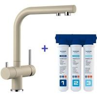Комплект смеситель Blanco Fontas II Шампань + фильтр для воды BWT-Барьер Эксперт