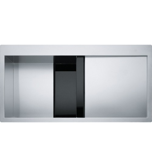 Кухонная мойка Franke Crystal CLV 214 L Черное стекло