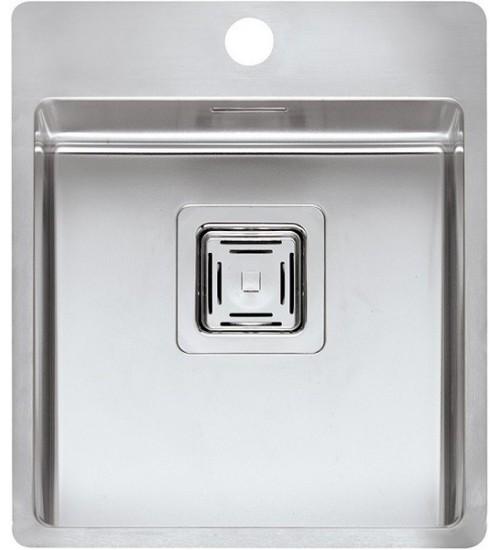 Кухонная мойка Reginox Texas 40x40 Tapwing L Lux Матовая нержавеющая сталь