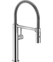 Кухонный смеситель Franke Pescara Semi Pro L Нержавеющая сталь (Выдвижной душ)