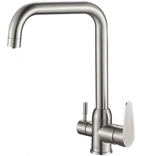 Кухонный смеситель Zorg Steel Hammer SH 725 Нержавеющая сталь