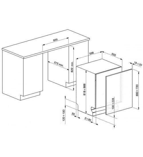 Встраиваемая посудомоечная машина Smeg STP364S