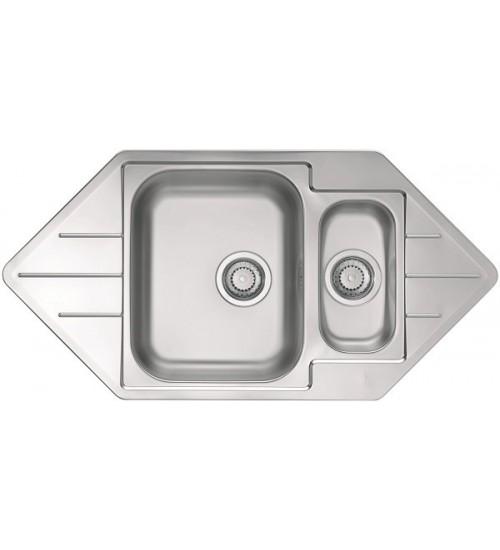 Кухонная мойка Alveus Line 40 Нержавеющая сталь декор 1085940