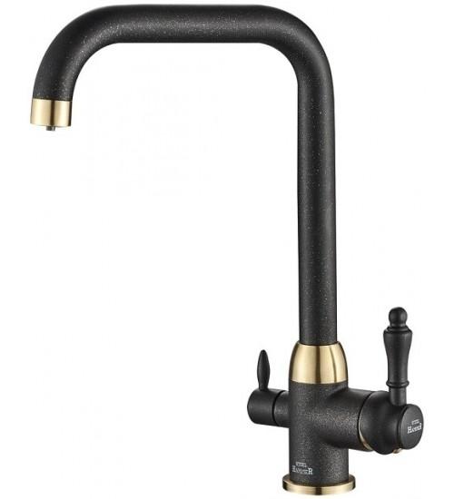 Кухонный смеситель Zorg Steel Hammer SH 725 Черный/Бронза