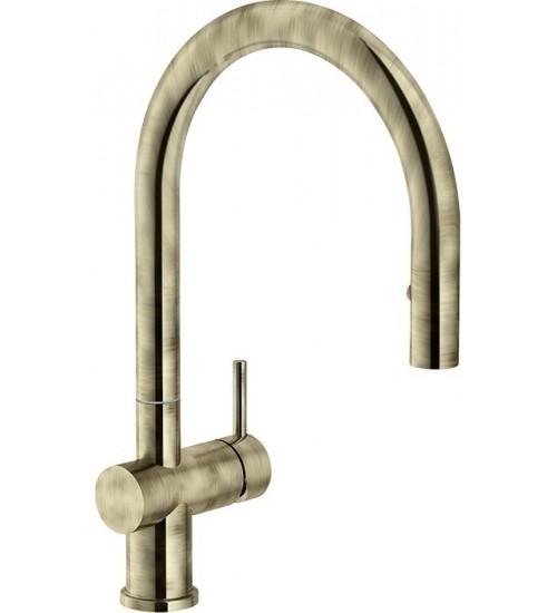 Кухонный смеситель Franke Active Neo Античное золото (Выдвижной душ)