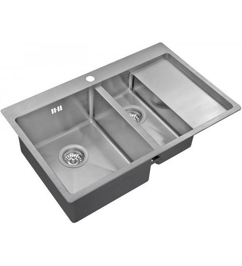 Кухонная мойка Zorg R 5178-2 L Матовая сталь