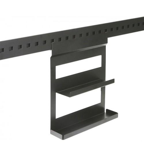 Полка для специй двухуровневая Поконар 256х75х320 мм, отделка черный бархат (матовый) 1A.3003.9005