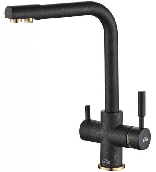 Кухонный смеситель Zorg Steel Hammer SH 552 Черный