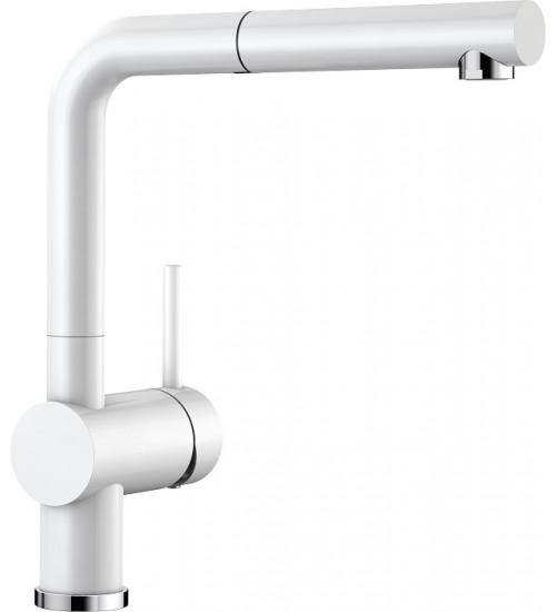 Кухонный смеситель Blanco Linus-S Глянцевый белый (керамика) 516710