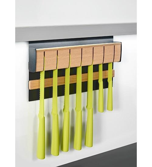 Держатель для ножей магнитный Kessebohmer 00 8905 9844, 350х45х200 мм, черный графит