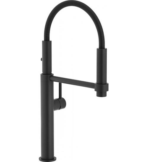 Кухонный смеситель Franke Pescara Semi-Pro 360 Черный матовый (Выдвижной душ)
