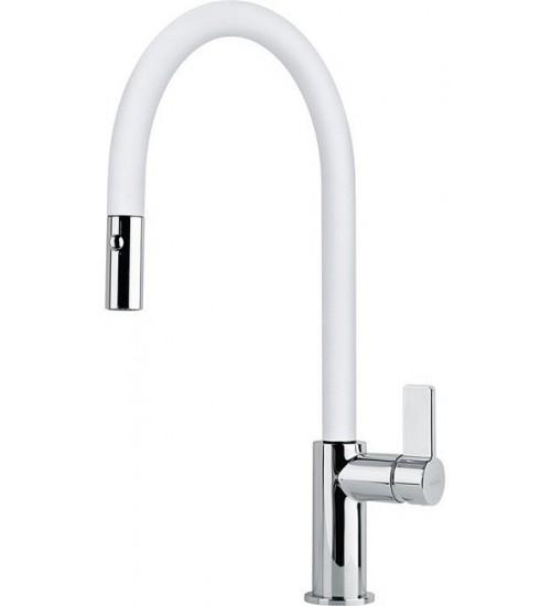 Кухонный смеситель Franke Ambient pull-out Белый (Выдвижной душ)