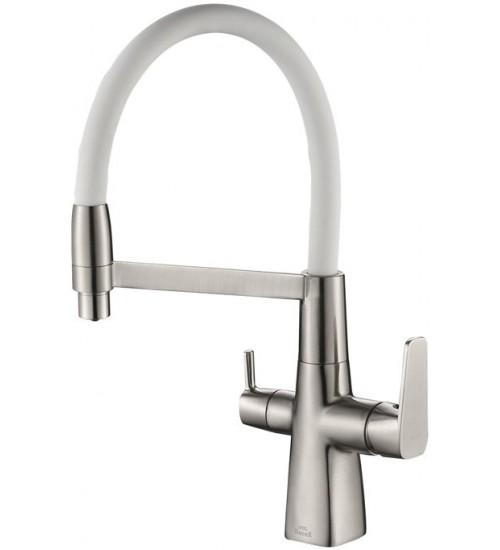 Кухонный смеситель Zorg Steel Hammer SH 818-8 Satin/White