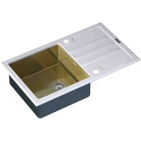 Кухонная мойка Zorg GL 7851 White Bronze
