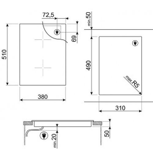 Встраиваемая индукционная панель Smeg SIM631WLDX
