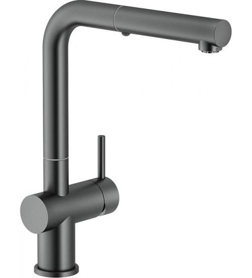 Кухонный смеситель Franke Active Plus Вороненая сталь (Выдвижной душ)