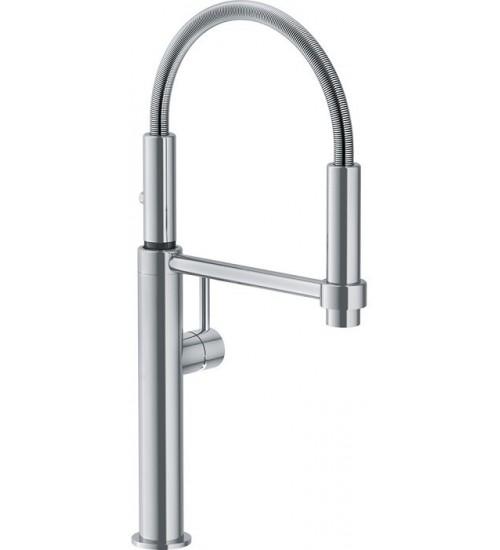 Кухонный смеситель Franke Pescara Semi-Pro 360 Нержавеющая сталь (Выдвижной душ)