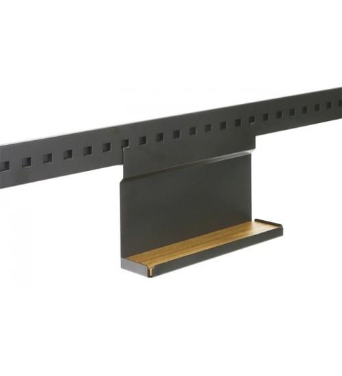 Полка для специй одноуровневая с вкладышем дуб Поконар 256х75х180 мм, отделка черный бархат (матовый) П-01.9005