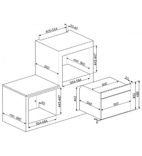 Электрический духовой шкаф Smeg SF4920MCB1