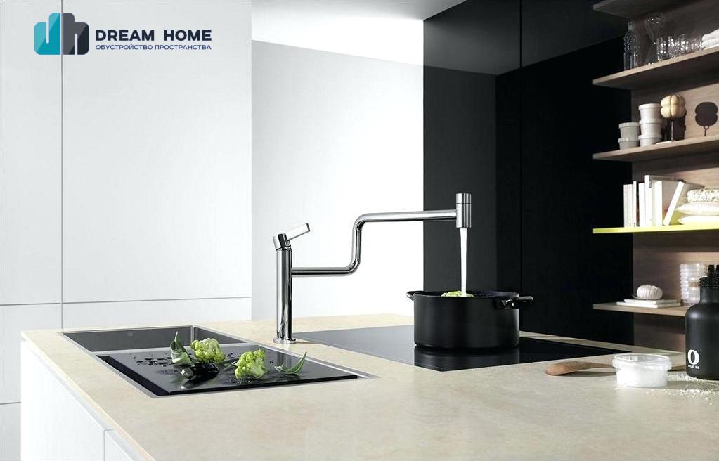 Современные модели кухонных смесителей